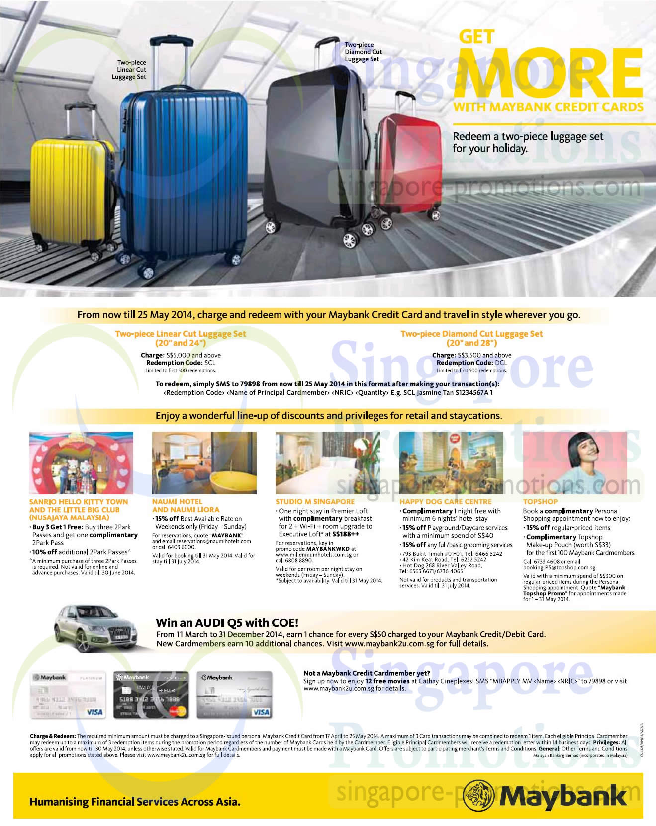 maybank 29 apr 2014 Â maybank credit cards free luggage set promo