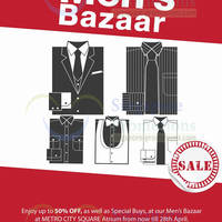 Read more about Metro Men's Bazaar @ City Square Mall 23 - 28 Apr 2014