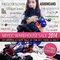 Read more about Miyoc Up To 70% OFF Warehouse SALE @ Woodlands Eleven 1 - 3 May 2014