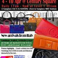 Read more about MyBagEmpire Branded Handbags & Accessories Sale @ Century Square 4 - 10 Apr 2014