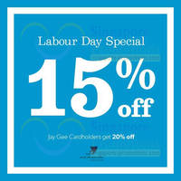Read more about New Look 15% OFF Storewide Labour Day Special 1 - 4 May 2014