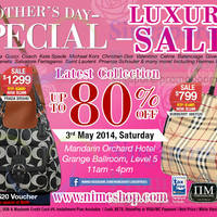 Read more about Nimeshop Branded Handbags Sale Up To 80% Off @ Mandarin Orchard 3 May 2014