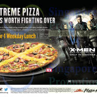 Read more about Pizza Hut NEW X-treme Pizza 1 for 1 Weekday Lunch Promo 30 Apr - 10 Jun 2014