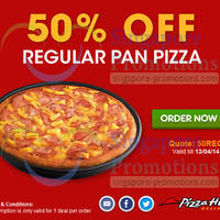 Read more about Pizza Hut Delivery 50% OFF Regular Pan Pizza Coupon Code 11 Apr 2014