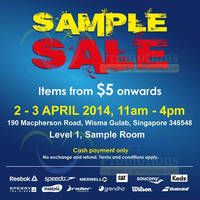 Read more about Royal Sporting House From $5 Sample SALE @ Wisma Gulab 2 - 3 Apr 2014