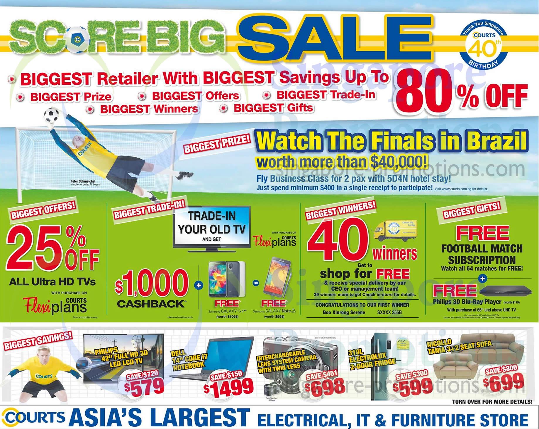 Score Big Sale, Samsung, Philips