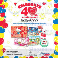 Read more about Hello Kitty NEW 40th Anniversary MyStamp Book Set 16 Apr 2014