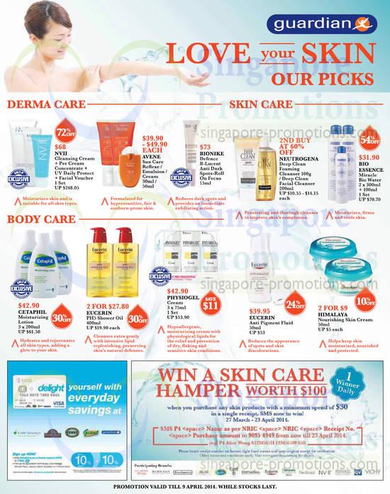 Skin Care, Body Care, Derma Care, Cetaphil, Eucerin, Physiogel, Himalaya, Bio Essence, Neutrogena, Bionike, Avene, NVII