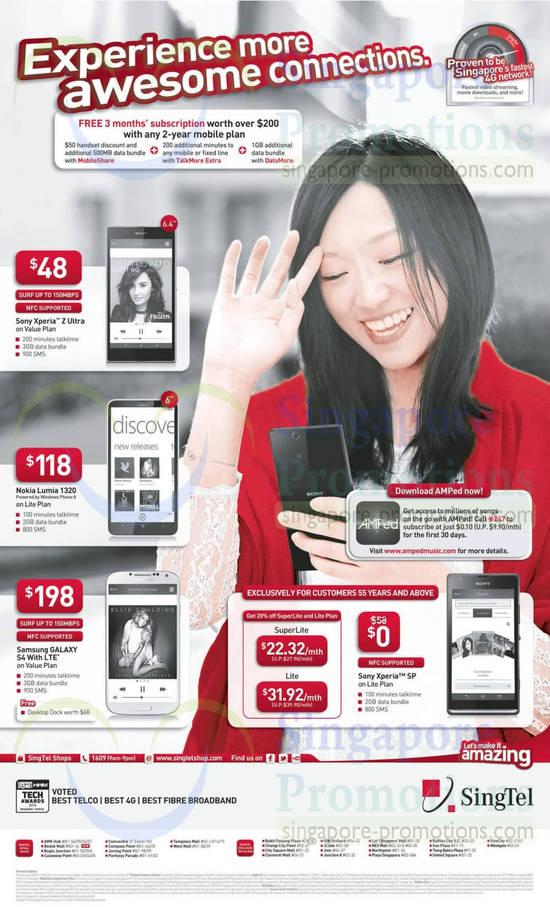 Sony Xperia Z Ultra, Sony Xperia SP, Nokia Lumia 1320, Samsung Galaxy S4