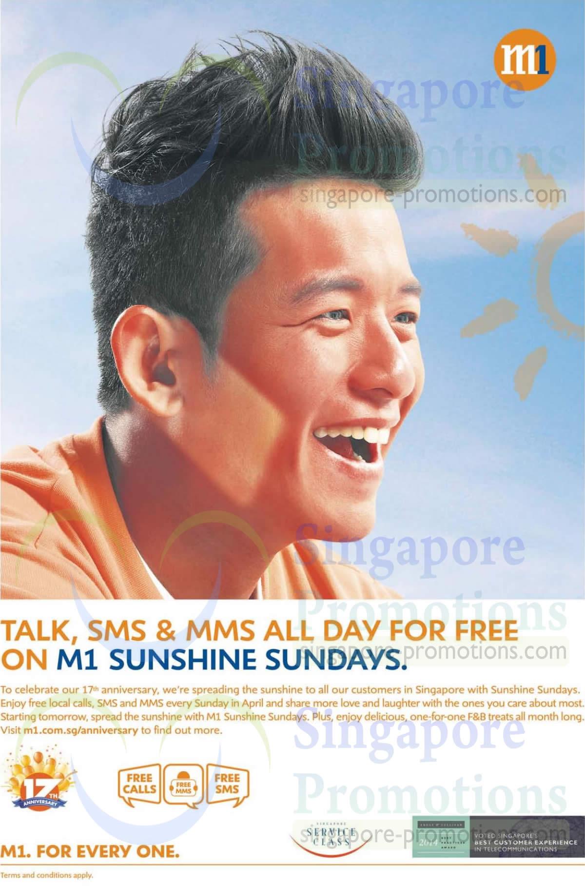 Sundays Free Talktime, SMS, MMS