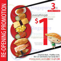 Read more about Sushi Express $1/plate Reopening Promo @ Citylink Mall 15 - 17 Apr 2014
