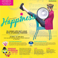 Read more about Tampines 1 Happiness Promotions & Activities 28 Mar - 27 Apr 2014