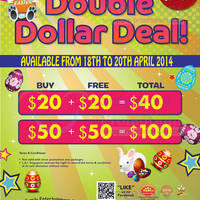 Read more about Timezone 100% Extra Double Dollar Promo 18 - 20 Apr 2014