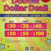 Read more about Timezone 100% Extra Double Dollar Promo 1 May 2014