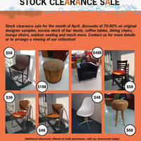 Read more about Valtra Galleria Designer Furniture Stock Clearance Sale 7 Apr - 17 May 2014