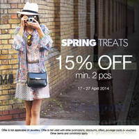 Read more about Warehouse 15% OFF Spring Treats 17 - 27 Apr 2014