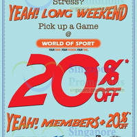 Read more about World of Sports 20% OFF Selected Items Promotion 24 Apr 2014