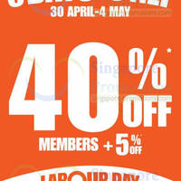 Read more about World of Sports 40% OFF Selected Items Promo 30 Apr - 4 May 2014
