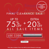 Read more about Zalora 20% OFF Sale Items Coupon Code (NO Min Spend) 28 - 29 Apr 2014