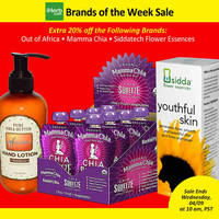 Read more about iHerb 20% OFF Out of Africa, Mamma Chia & Siddatech Flower Essences 4 - 9 Apr 2014