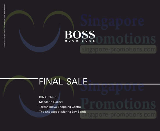 20 Jun Hugo Boss Final Sale