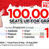 Read more about Air Asia From $159 (Via Klia 2) 100,000 Seats Promo 5 - 11 May 2014
