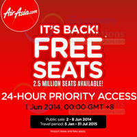 Read more about Air Asia FREE Seats Promo 2 - 10 Jun 2014