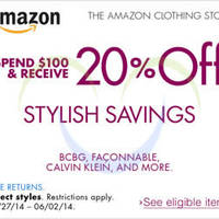 Read more about Amazon.com 20% OFF Branded Styling Savings Coupon Code 30 May - 3 Jun 2014