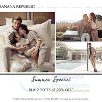 Read more about Banana Republic Buy 2pcs & Get 20% OFF 1 - 11 May 2014