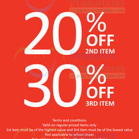 Read more about Bata 20% OFF 2nd Item, 30% OFF 3rd Item 3 Day SALE 30 May - 1 Jun 2014