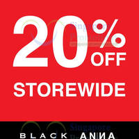 Read more about Black Hammer & Anna Black 20% OFF Storewide 1 - 4 May 2014