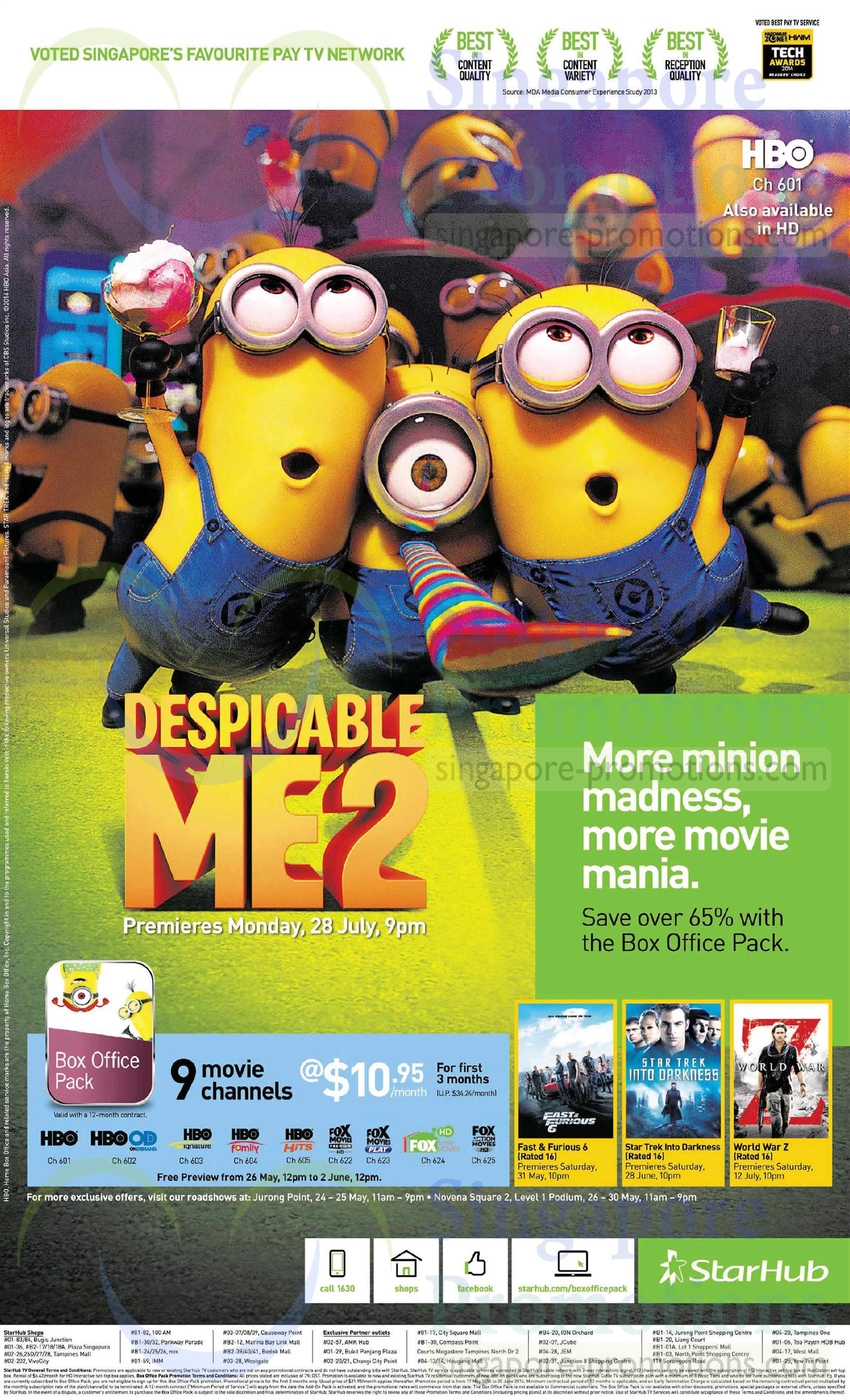 Cable TV Box Office Pack, Despicable Me 2