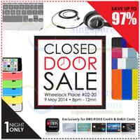 Read more about Epicentre Up To 97% OFF DBS, POSB & Epitude Closed Door SALE 9 May 2014