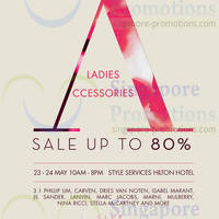 Read more about Club 21 Up To 80% OFF Ladies Accessories Sale @ Hilton Hotel 23 - 24 May 2014