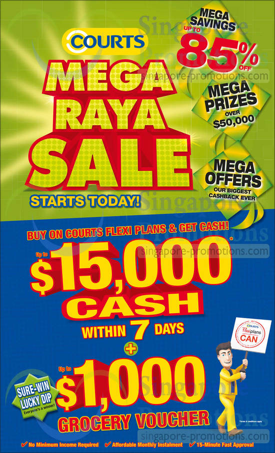 Courts Mega Raya Sale, Savings Up To 85 Percent