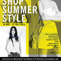 Read more about F3 Fashion Brands 10% OFF For MasterCard Cardmembers 30 May - 27 Jul 2014