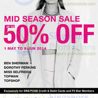 Read more about Fashion Fast Forward F3 Star Mid Season SALE 1 May - 8 Jun 2014