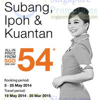 Read more about Firefly From $54 Subang, Ipoh & Kuantan Air Fares Promo 5 - 25 May 2014