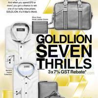 Read more about Goldlion 3 x 7% GST Rebate Seven Thrills Promo 23 May - 7 Jul 2014