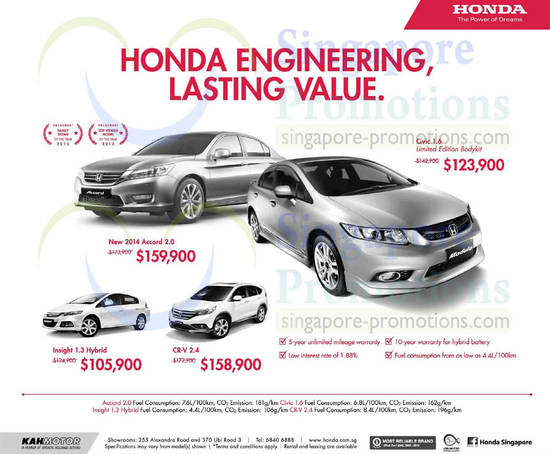 honda accord civic insight cr v offers 10 may 2014. Black Bedroom Furniture Sets. Home Design Ideas
