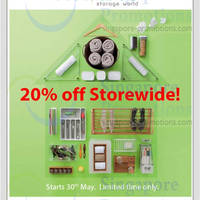 Read more about Howards Storage World 20% Storewide Promo 30 May - 6 Jun 2014