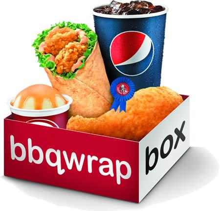 KFC BBQ Wrap Box