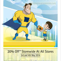 Read more about Kinokuniya Bookstores 20% OFF Storewide Promotion 3 - 4 May 2014