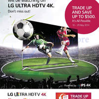Read more about LG TVs Trade Up & Save Up to $500 16 - 29 May 2014
