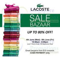 Read more about Lacoste Bazaar SALE @ Wisma Gulab 4 - 6 Jun 2014