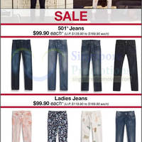 Read more about Levi's $99.90 501 Jeans & Ladies Jeans SALE 15 May 2014