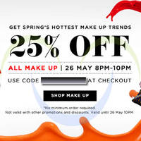 Read more about Luxola 25% OFF All Make-up Products (NO Min Spend) 2Hr Coupon Code 26 May 2014