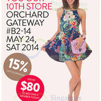 Read more about MDS Collections 15% OFF Storewide Opening Promo @ Orchard Gateway 24 May 2014