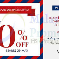 Read more about MS. Read Great Singapore Sale 29 May 2014