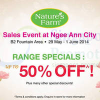 Read more about Nature's Farm Sales Event @ Ngee Ann City 29 May - 1 Jun 2014